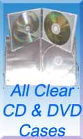 Clear CD & DVD Cases